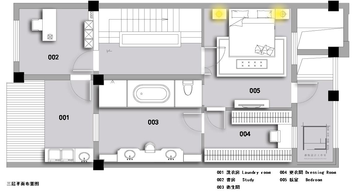 三层平面图片来自潘悦设计事务所在雅舍·靜生活-常熟信壹景天花園的分享