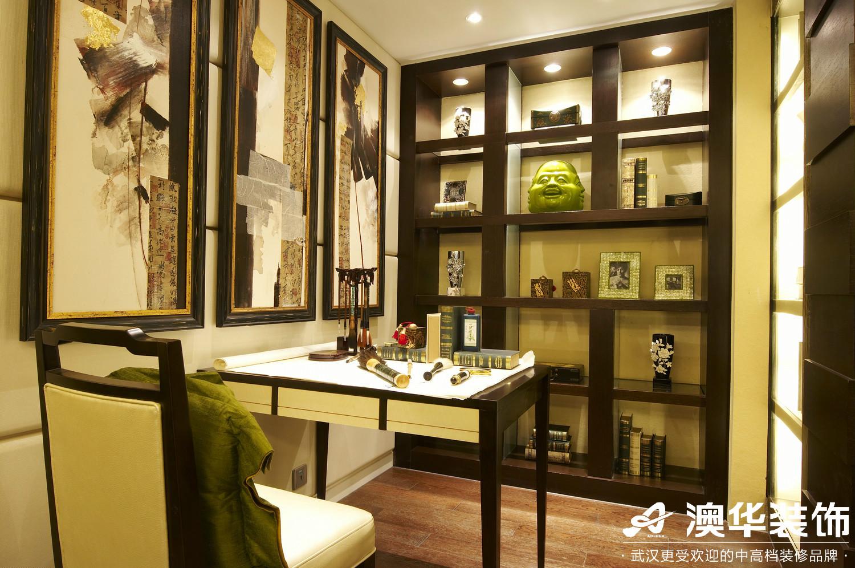 书房图片来自澳华装饰有限公司在联投花山郡·东南亚风格的分享