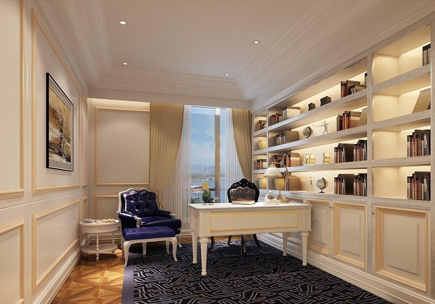 书房图片来自北京居然元洲装饰小尼在120平米欧式清新的分享
