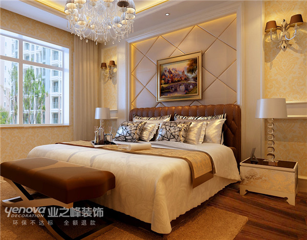 欧式 简约 四居 茂华小区 太原业之峰 卧室图片来自太原业之峰小李在茂华小区的分享