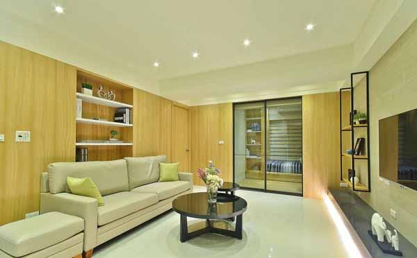 二居 小资 客厅图片来自上海潮心装潢设计有限公司在50平二居室装修日式风增温润质感的分享