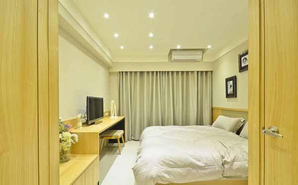 二居 小资 卧室图片来自上海潮心装潢设计有限公司在50平二居室装修日式风增温润质感的分享
