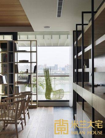 小资 北欧 收纳 书房图片来自米兰大宅设计会所在经典北欧的分享