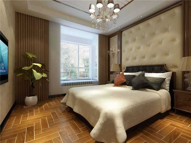 现代 中式 二居 卧室图片来自居然元洲装饰小杨在富力又一城二居现代中式风的分享