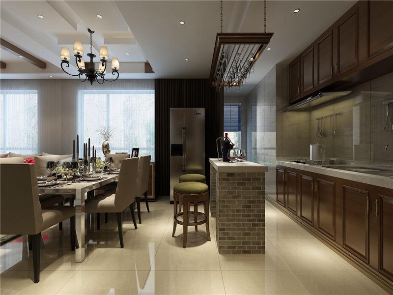 现代 中式 二居 厨房图片来自居然元洲装饰小杨在富力又一城二居现代中式风的分享