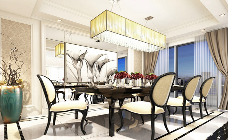 北欧 三居 优雅 餐厅图片来自居众装饰WX在玉兰西花园-北欧风格-160㎡的分享