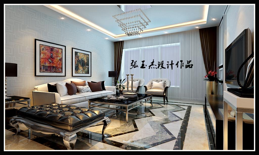 三居 金地长青湾 后现代风格 客厅图片来自百家设计小刘在金地长青湾145平后现代风格的分享