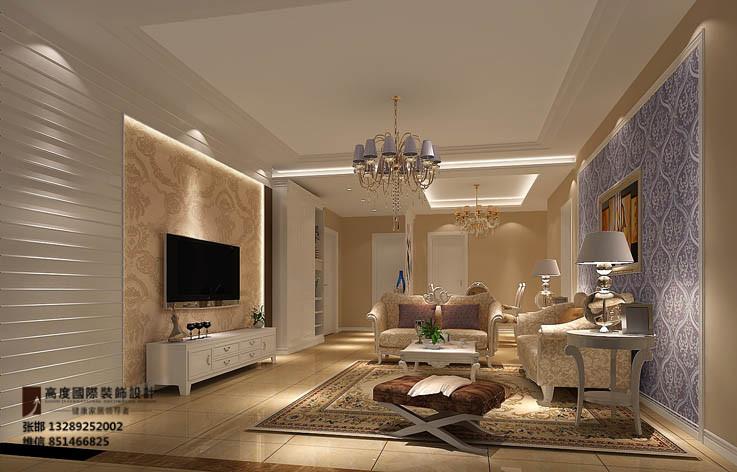 装修 设计 家装 欧式 三居 客厅图片来自张邯在高度国际-长滩壹号20号楼的分享