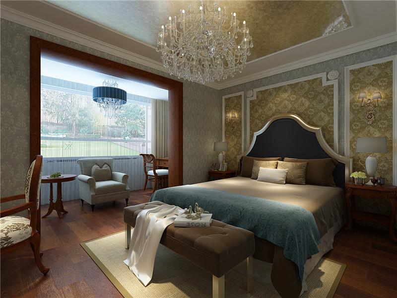 中式 新中式 现代 四居 卧室图片来自居然元洲装饰小杨在中景濠庭四居新中式风格的分享