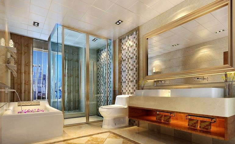 中式 典雅 四居 卫生间图片来自惠州居众装饰在方直·珑湖湾-中式风格-240㎡的分享