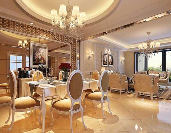 欧式 三居 餐厅图片来自上海潮心装潢设计有限公司在荣都公寓137平三室两厅简欧装修的分享
