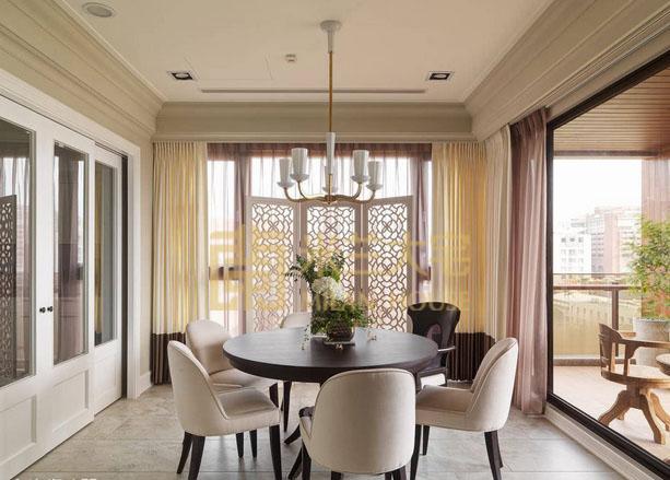 美式 小资 三居 收纳 餐厅图片来自米兰大宅设计会所在美式的分享