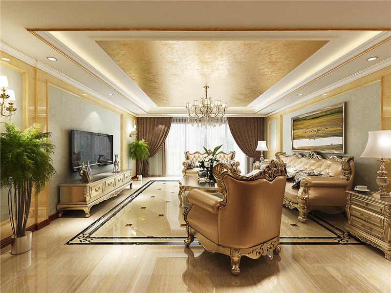 中式 新中式 现代 四居 客厅图片来自居然元洲装饰小杨在中景濠庭四居新中式风格的分享