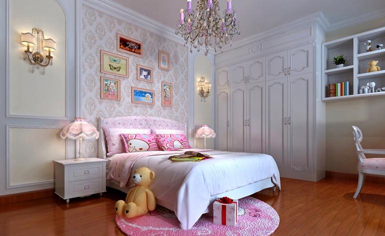 欧式 三居 浪漫 清新 儿童房图片来自惠州居众装饰在合生·滨海城-欧式风格-136㎡的分享
