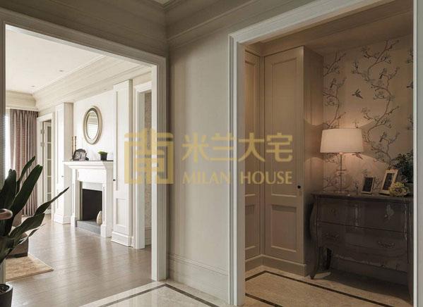 美式 小资 三居 收纳 玄关图片来自米兰大宅设计会所在美式的分享
