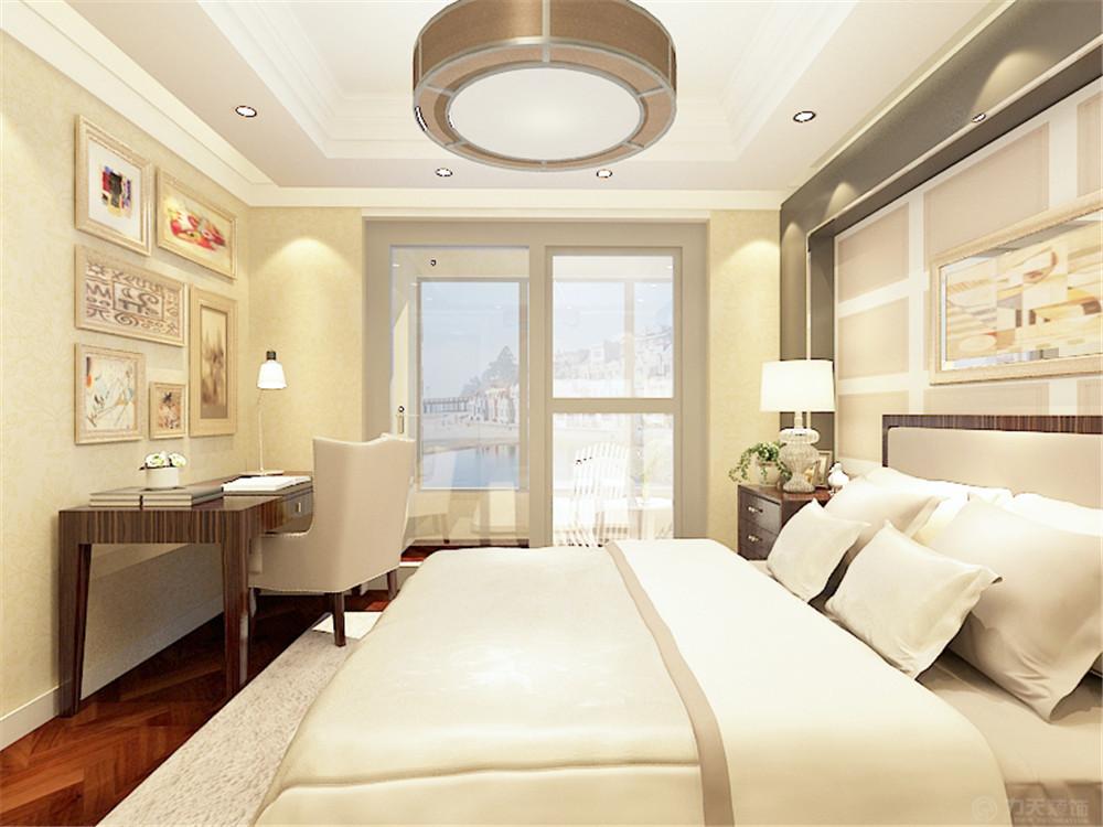 卧室图片来自阳光力天装饰在简欧风格  紫竹华庭 88㎡的分享