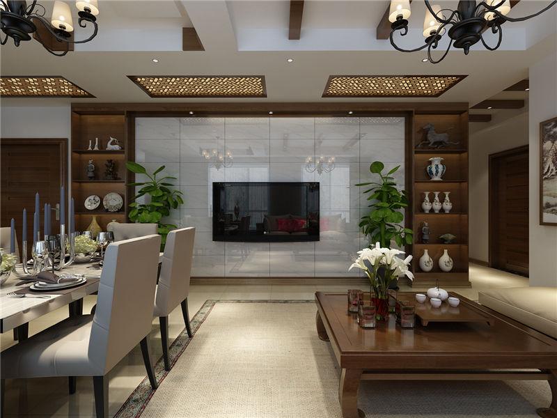 现代 中式 二居 客厅图片来自居然元洲装饰小杨在富力又一城二居现代中式风的分享