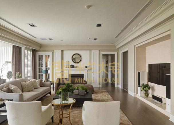 美式 小资 三居 收纳 客厅图片来自米兰大宅设计会所在美式的分享