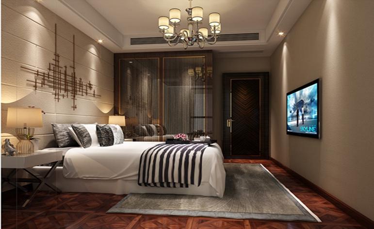 简约 现代 二居 卧室图片来自居众装饰WX在融创熙园-现代简约风格-90㎡的分享