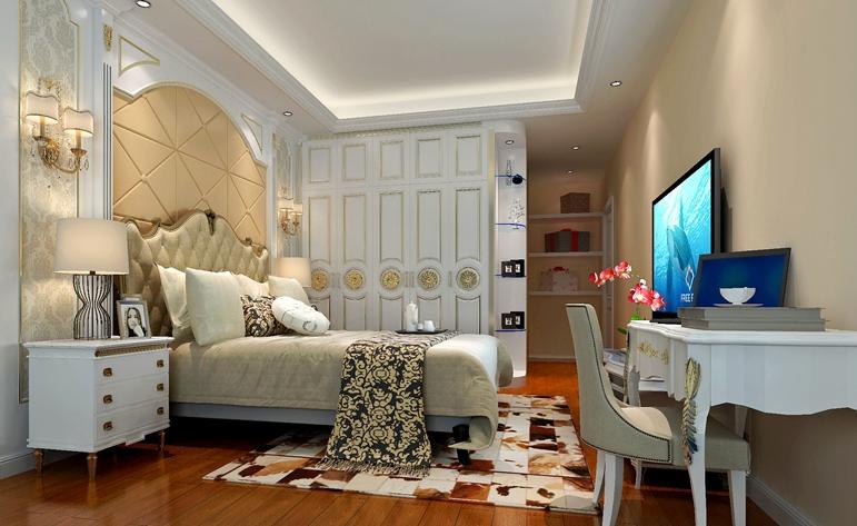 欧式 三居 浪漫 清新 卧室图片来自惠州居众装饰在合生·滨海城-欧式风格-136㎡的分享