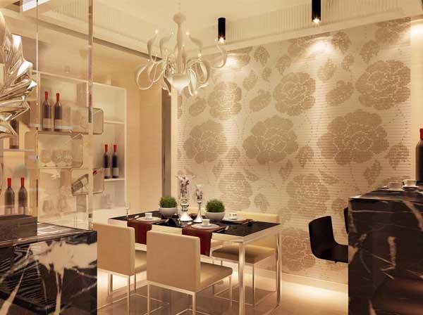 小资 餐厅图片来自上海潮心装潢设计有限公司在海上名都155平四房两厅装修样板的分享