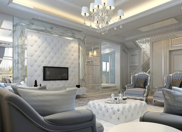 简约 别墅 小资 80后 客厅图片来自天津实创装饰赵在简约风格别墅装修的分享