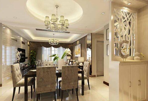 三居 80后 餐厅图片来自上海潮心装潢设计有限公司在兴日家园128平米三室两厅装修的分享