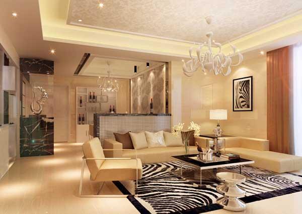 小资 客厅图片来自上海潮心装潢设计有限公司在海上名都155平四房两厅装修样板的分享