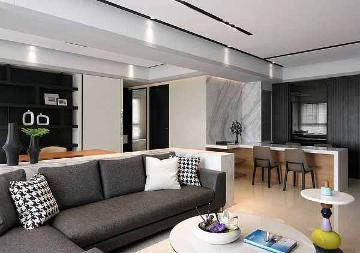 96平简约二居室装增色空间层次