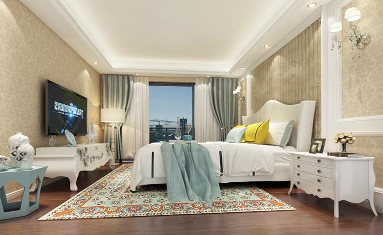 北欧 三居 优雅 卧室图片来自居众装饰WX在玉兰西花园-北欧风格-160㎡的分享