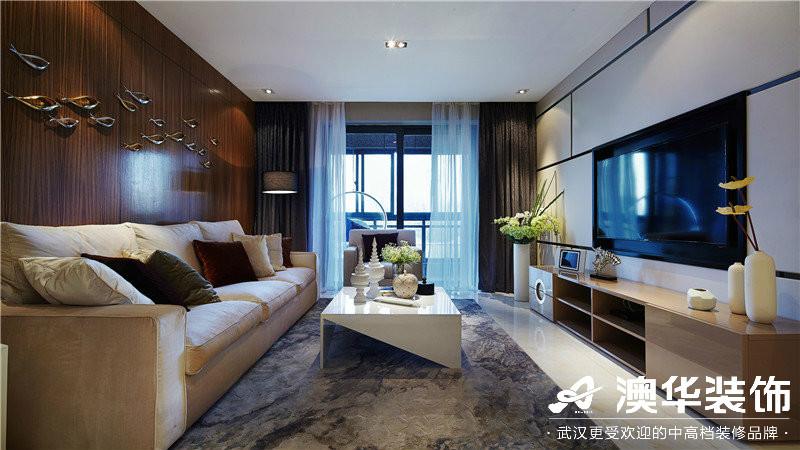 客厅图片来自澳华装饰有限公司在观澜御璟台·港式风格的分享