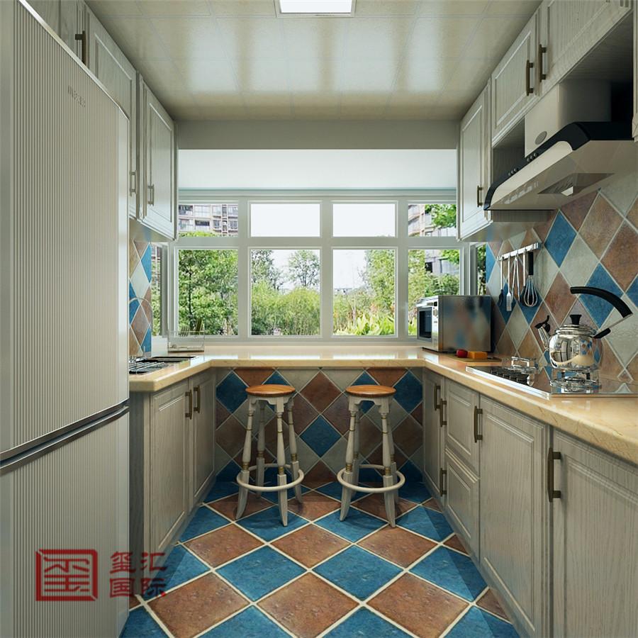 美式风格 玺汇国际 石家庄装修 厨房图片来自河北玺汇国际装饰公司在西苑小区110平美式风格的分享