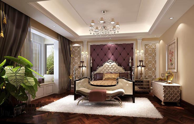 装修 设计 家装 别墅 欧式 卧室图片来自张邯在高度国际-香江别墅的分享