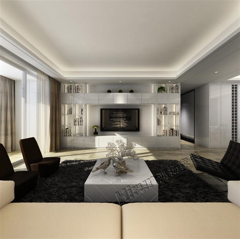 欧式 简约 三居 白领 收纳 80后 小资 客厅图片来自鸿扬家装武汉分公司在锦绣长江之白色世界的分享