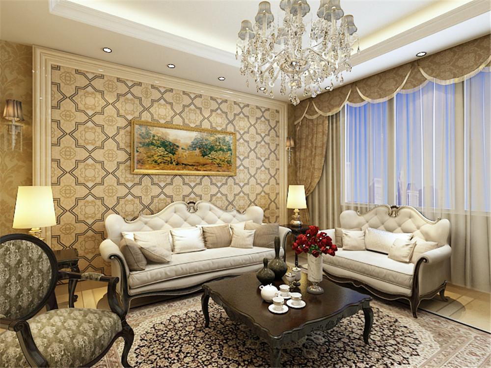 客厅图片来自阳光力天装饰在简欧风格  紫竹华庭 88㎡的分享