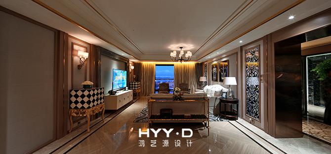 客厅 新古典 客厅图片来自郑鸿设计师在御墅临风--卓越维港名苑室内设计的分享