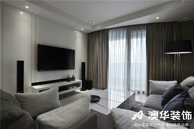 客厅图片来自澳华装饰有限公司在世茂林屿岸·现代风格的分享
