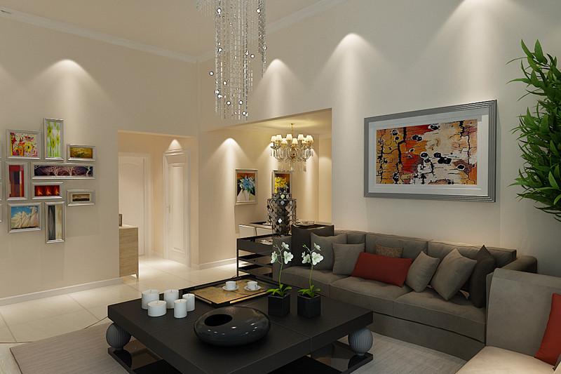 简约 二居 白领 收纳 80后 小资 客厅图片来自天津实创装饰赵在112平米-简约风格装修的分享
