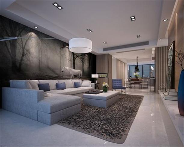 简约 三居 收纳 客厅图片来自日升装饰公司在130平米简约实用家居的分享