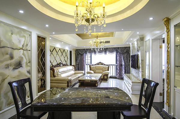 餐厅图片来自北京大成日盛装饰设计在欧式 三居室 大成装修案例欣赏的分享