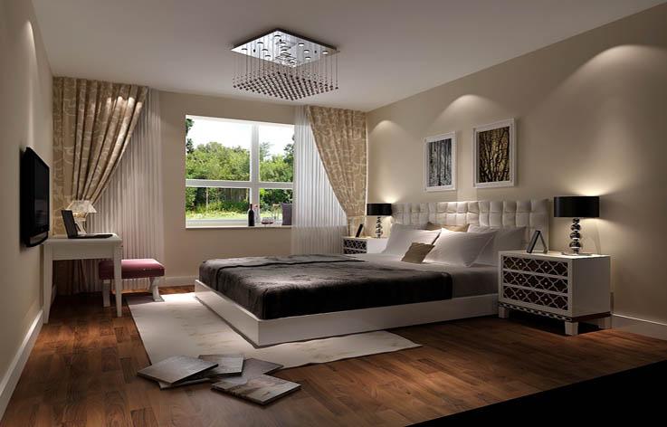 装修 设计 家装 二居 简约 卧室图片来自张邯在高度国际-中海城的分享