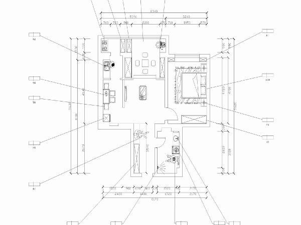本户型为盛瑞公寓2室2厅一厨1卫80平米设计方案。每个空间相对独立有较好的采光。其空间结构分部基本合理,基本无需拆改。