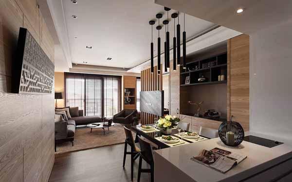 简约 三居 餐厅图片来自上海潮心装潢设计有限公司在106平简约三居精心打造恬静空间的分享