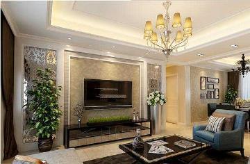 润峰苑120平现代三室两厅装修