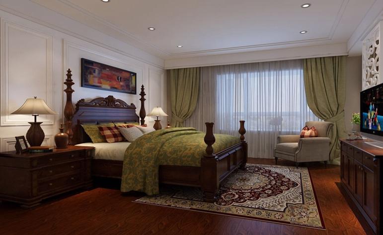 美式 三居 小资 卧室图片来自惠州居众装饰在卢浮公馆-美式风格-100㎡的分享