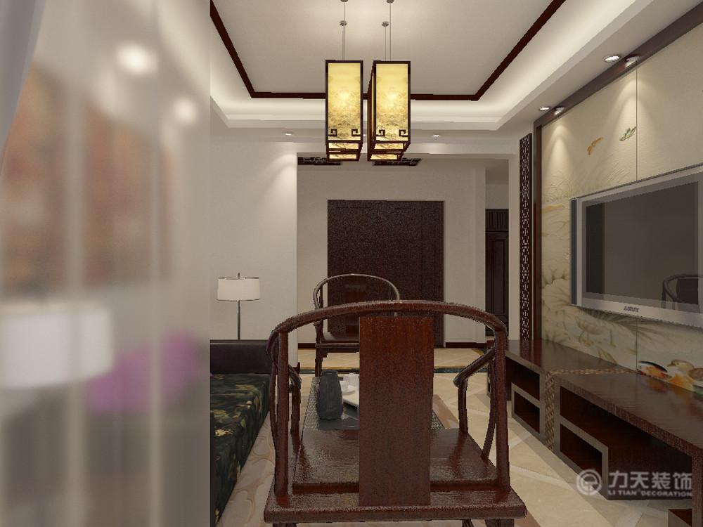中式 三居 白领 80后 小资 收纳 沙发 吊顶 客厅图片来自阳光力天装饰在新中式 中信公园城 102㎡的分享