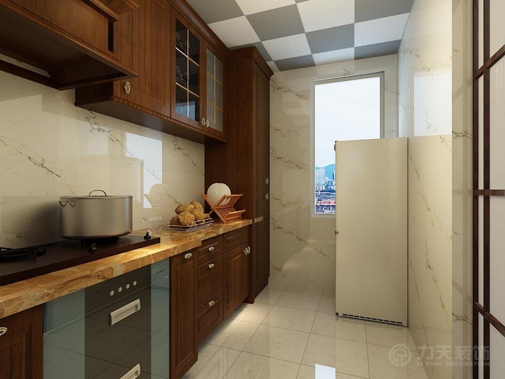 二居 白领 收纳 80后 中式 吊顶 橱柜 厨房图片来自阳光力天装饰在中式  天房郦堂  92.54㎡的分享