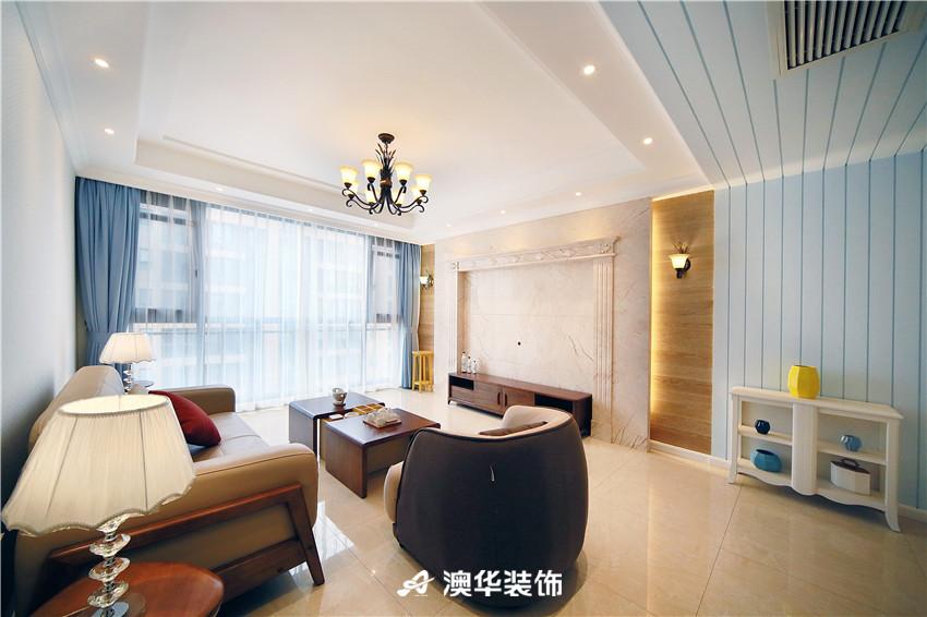 欧式 北欧 四居 白领 收纳 80后 客厅图片来自澳华装饰有限公司在清江泓景·解密浪漫北欧风的分享
