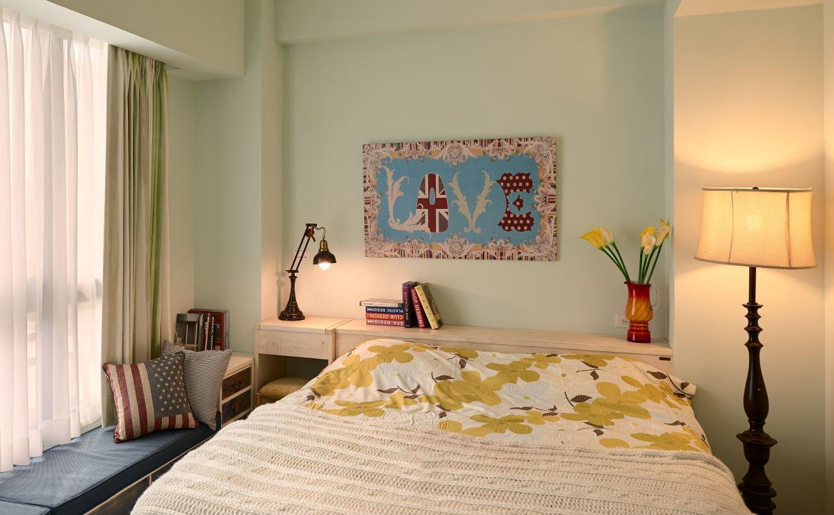 简约 三居 80后 小资 卧室图片来自二十四城装饰重庆分公司在重庆装修公司:东源桐麓2的分享