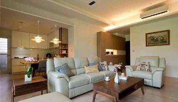金丰小区96平美式风格二居室装修